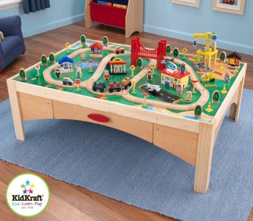 KidKraft Natural Train Table And 120 Piece Train Set. Manufacturer  Recommended Age: 36 Months