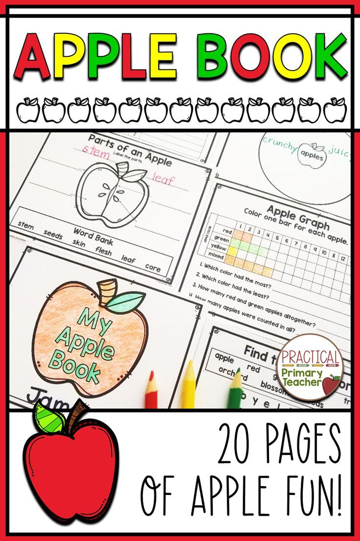 Apples book in 2020 math pages kindergarten resources