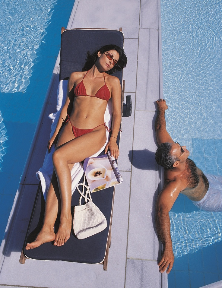 Simply relax, enjoy the Greek sun and each other, at the 500sqm seawater pool of the Mykonos Grand Luxury Hotel