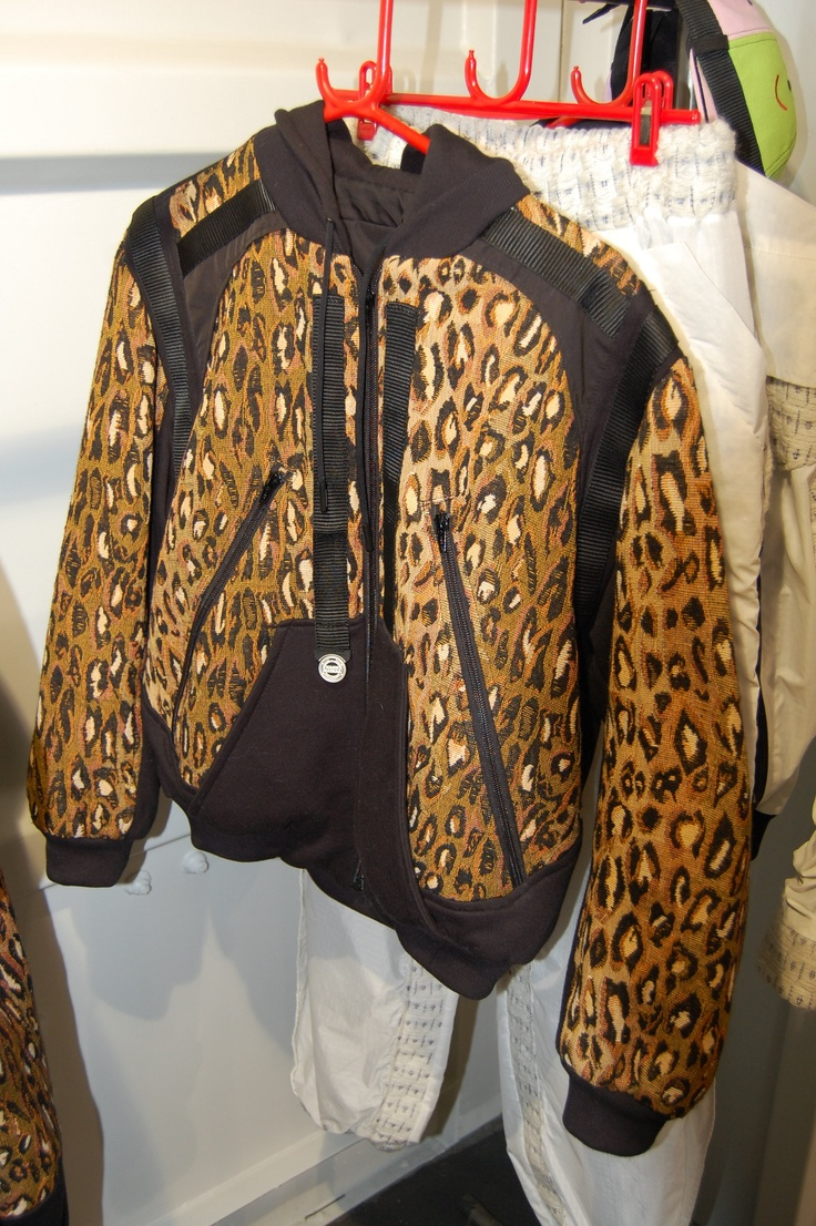 Leopard print bomber jacket by Nasir Mazhar, from EDITD's #bbb coverage. Discover all the latest in streetwear trends | http://editd.com/blog/2013/01/on-the-ground-day-1-bread-butter-aw1314/