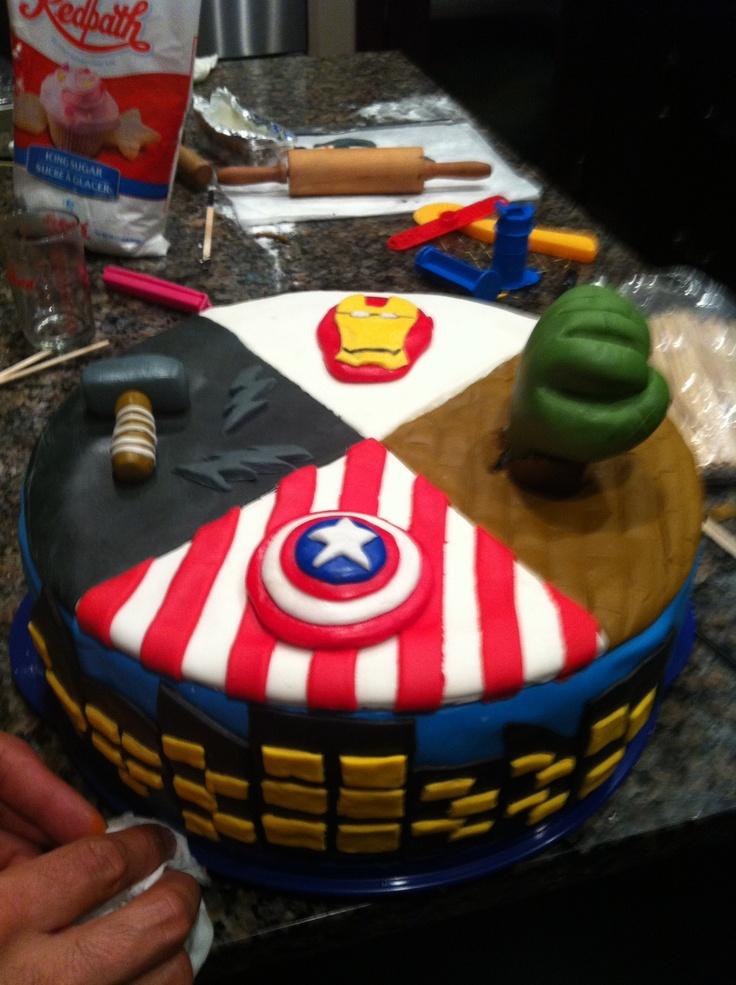 Avengers Cupcake Cake Ideas