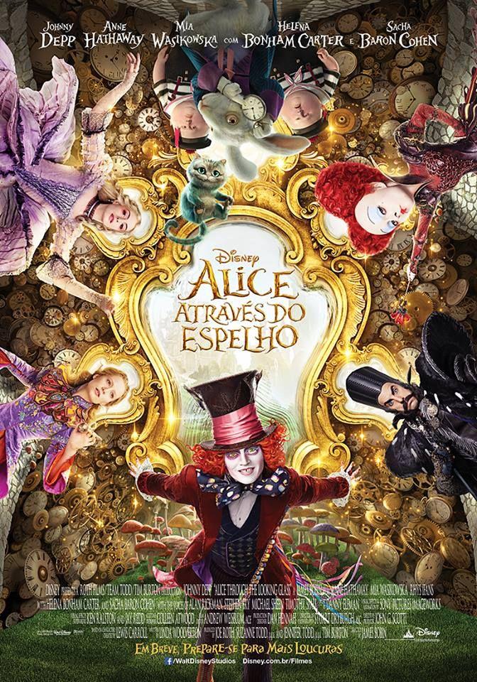 Alice-Através-do-Espelho Eu quero esse poster