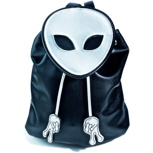Current Mood Peace Out Bucket Backpack ($24) ❤ liked on Polyvore featuring bags, backpacks, faux leather backpack, flap backpack, hologram backpack, drawstring bucket bags and blue drawstring backpack