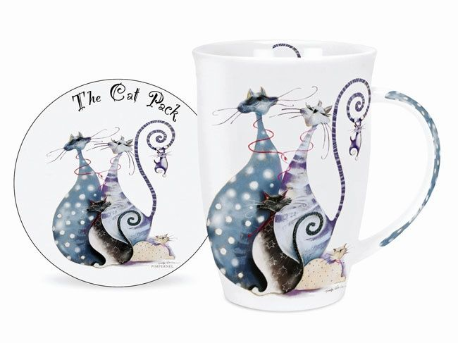 Pimpernel The Cat Pack Single Mug and Coaster Set