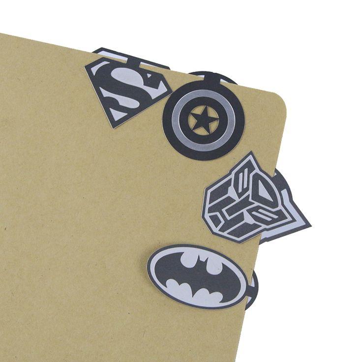 1 Unidades de Kawaii Lindo de la Señal Del Metal de La Vendimia Clave Héroe Marcadores Papel Clip De Libro de Escritorio Coreanos Del Envío Libre