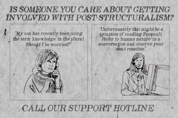 """""""Is somene you care about getting involved with post structuralism?""""  25 Jokes Only Book Nerds Will Understand"""