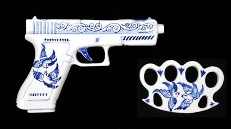 Charles Krafft's porcelain weapons. FYI: I am in no way whatsoever advocating violence, just an appreciation of art.