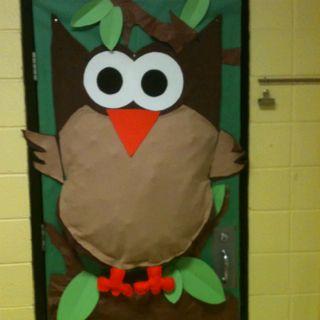 Owl on my classroom door!: Doors Ideas, Classroom Decor Doors, Classroom Theme, Campingoutdoor Classroom, Owl Theme Classroom Doors, Owl Doors Decor Classroom, Classroom Owl, Owl Decor, Owl Classroom Doors