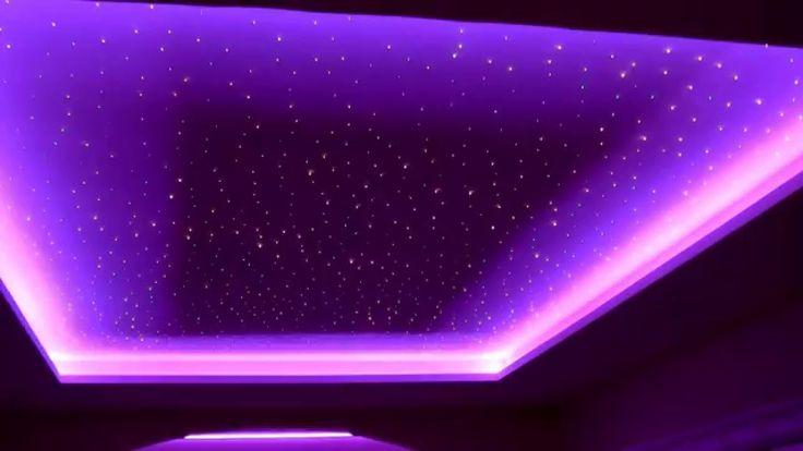 Oświetlenie LED. Gwieździste Niebo nowoczesny lokal na wesele. Sufit pod...