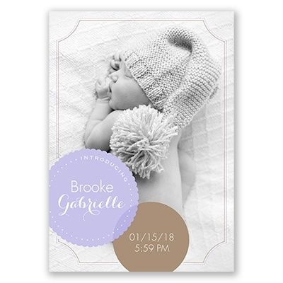 89 best Birth Announcements images – Classic Baby Announcements
