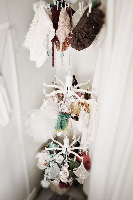 Great idea for hanging newborn props