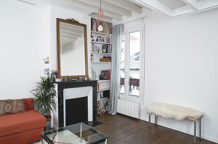 le volume est divisé en deux espaces marqués par la hauteur sous plafond //crédit photo : Dorian Huet