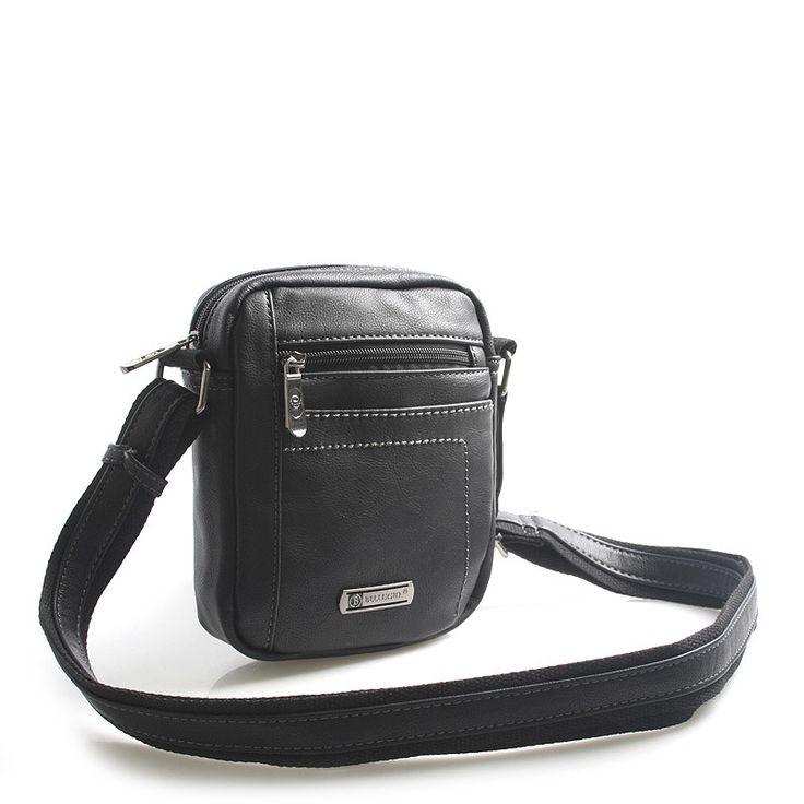 #taška #Bellugio Černá menší stylová dokladovka přes rameno Bellugio s dlouhým popruhem, až 168 cm. Hlavní kapsa je na zip, uvnitř kapsa na mobil a kapsa na zip. Taška má všude plno dalších praktických kapsiček a pojme všechny nezbytné doklady, klíče, telefony, peněženku. Je vyrobena z kvalitní koženky. Novinka 2016.