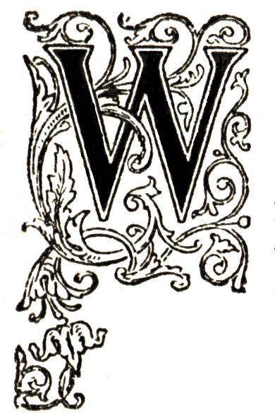 Initial W engraving. Free images from http://devilsartisan.ca/dingbats.html