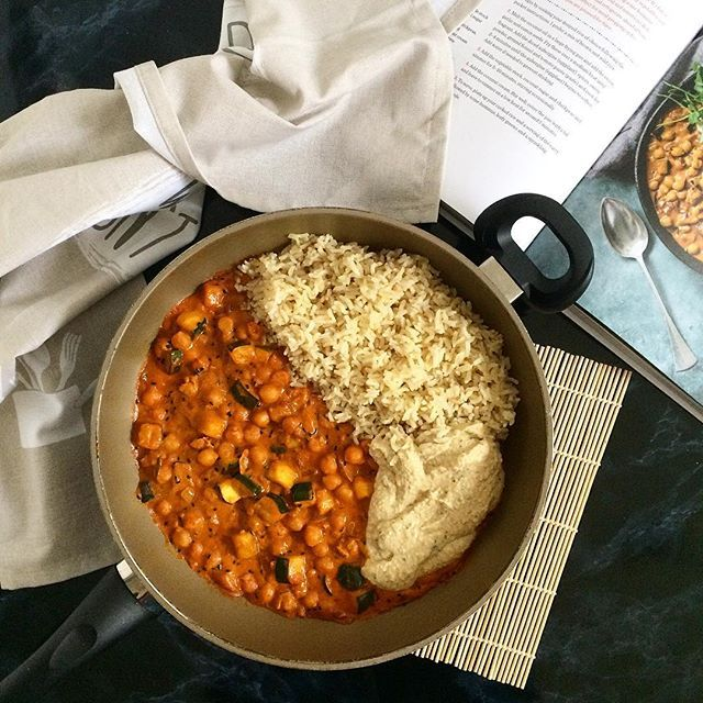 Moroccan Chickpea & Aubergine Curry from the amazing cookbook of Sam aka 'sobeautifullyreal'