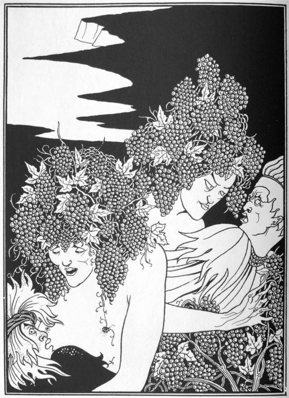 A Snare of Vintage - Aubrey Beardsley illustration for Lucian's True History, 1892-96