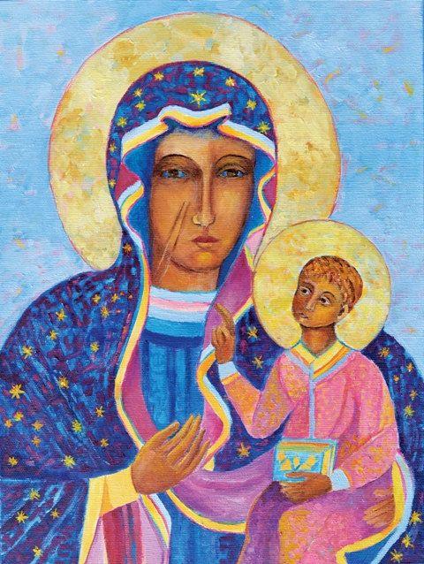 Black Madonna Poland Our Lady of Czestochowa by TanabeStudio