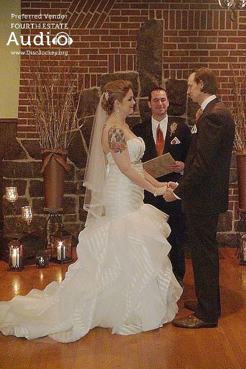 Doesn't the fireplace at Katherine Legge Memorial Lodge make a great backdrop for a romantic wedding ceremony? http://www.discjockey.org/real-chicago-wedding-oct-3-2015/