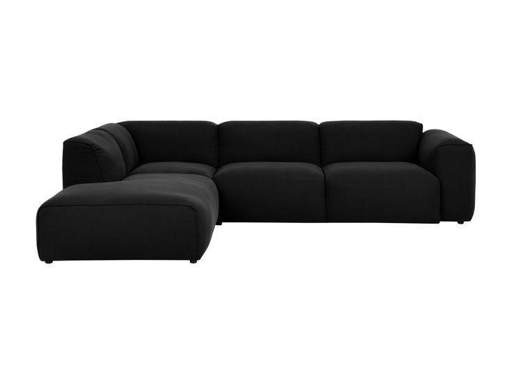 WISCONSIN L-sofa Svart i gruppen Innendørs / Sofaer / Divansofa hos Furniturebox (110-92-110135r)