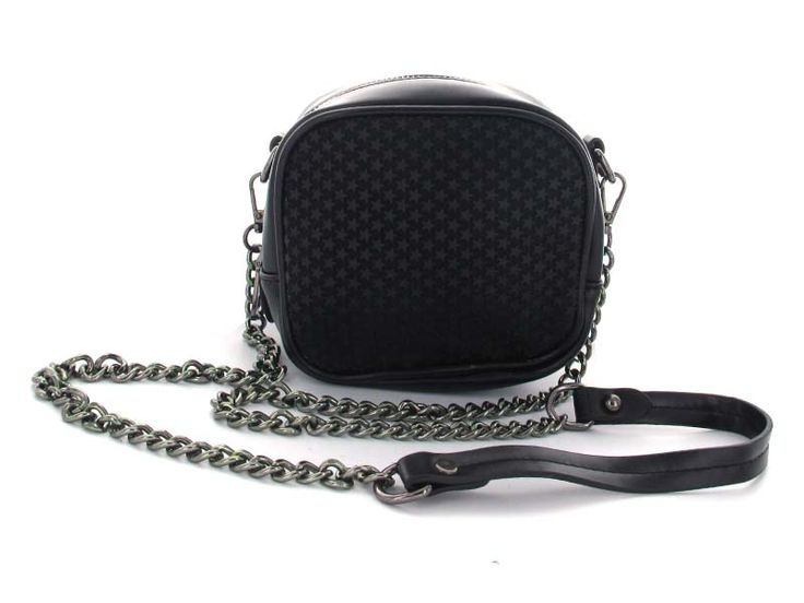 Black Mini Star-Patterned Crossbody - A standout bag with two unique ways to wear and style! Included are two different straps; first is a chainlink long strap, allows for a hands-free crossbody style. Second, is the multi-chain short strap, allows for a classic top-handle look. The texturozed star pattern adds dimension, making this bag a must-have this season.  Available in; Black and White.