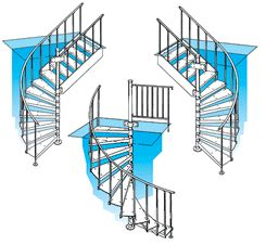 25 best ideas about spiral staircase plan on pinterest for Half spiral staircase
