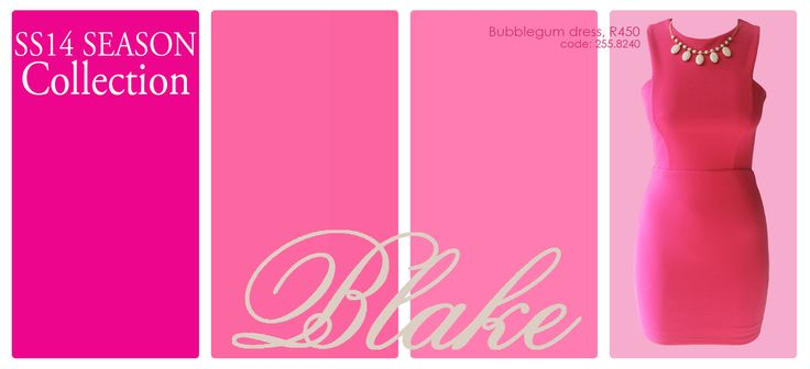 Blake's hot pink number is R450 at YDE! SS14 Collection #DLstyle Follow us on instagram at @dlbrands.