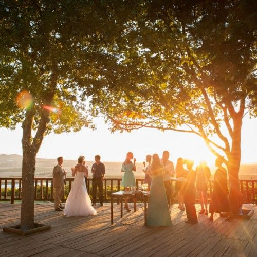 South African outdoor wedding with a view.