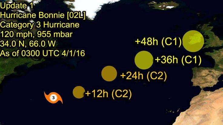 Hurricane Bonnie strengthens into a Major Hurricane - Update 1 ...