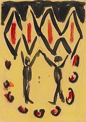 Ernst Ludwig Kirchner, Tanzpaar 1912.