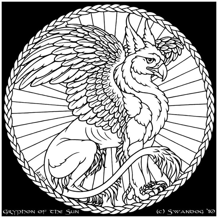 Coloring Page Celtic F C: 17 Best Images About Phoenix, Griffin And Simburg On