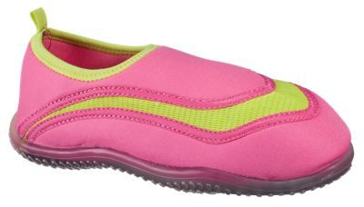 White River Fly Shop Aqua Sox Water Shoes for Kids - Yellow/Pink - 10 Toddler