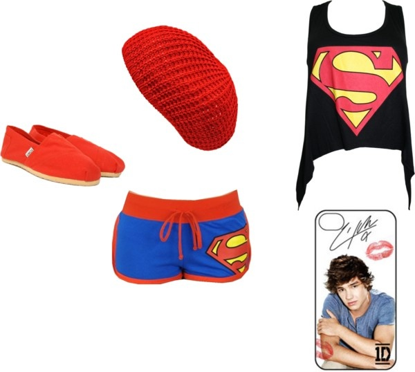 """""""Lazy Day with Liam Payne"""" by allieprins on Polyvore  Why the fuck would you wear superman clothing when he likes batman?! Is this fandom retarded!?"""