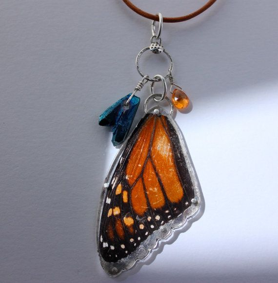 Butterfly wing pendant by serpentree on Etsy, $150.00