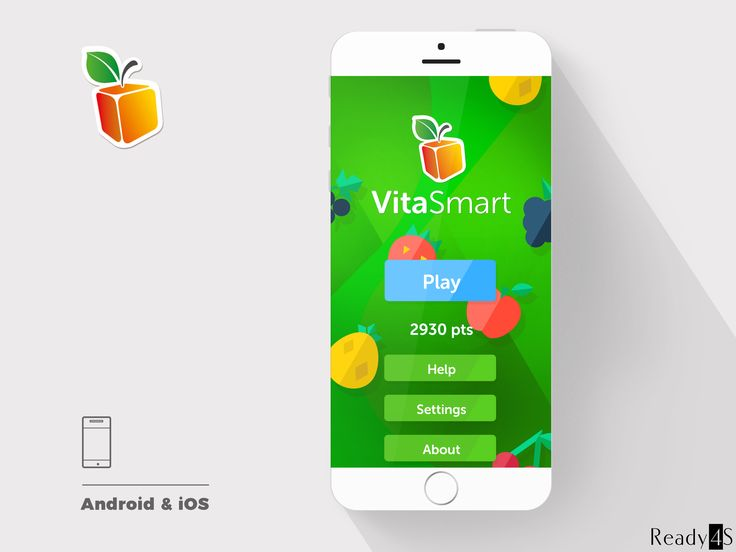 VitaSmart is a logical interactive game in which users combine smaller fruit elements together to get points. The app's purpose is to popularize drinking juice and eating fruits among children in easy and pleasant way.
