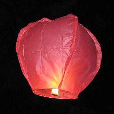 Heart-shape Flying Sky Wishing Lantern Kongming Light (Random Color) – USD $ 1.99