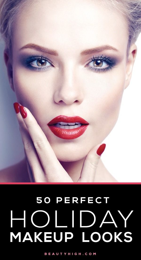 50 Gorgeous Makeup Looks For Any Holiday Party | Christmas Parties Makeup Inspiration And Red ...