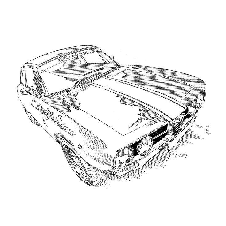 #AlfaRomeo #classiccar #italian #design #tegnepeter #illustration #heydenreich