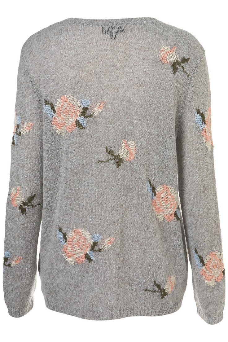 Knitted Rose Jacquard Jumper