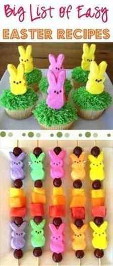 BIG List of Easy Easter Recipes! ~ from  ~ get inspired with all sorts of fun treats, appetizers, main course dishes, and delicious beverages for your Easter meal!