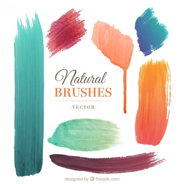 Natural brushes Free Vector