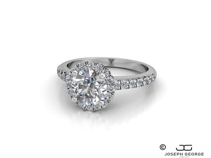 Stunning Round Halo Engagement Ring Medusa - Joseph George - http://www.josephgeorge.com.au/?p=8895 -