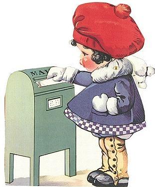 Girl Mailing HeartChildren Vintage, Postcards Children, Illustration Vary Artists, Greeting Cards, Children Illustration Vary, Christmase Vintage, Vintage Valentine, Cards Art, Vintage Cards