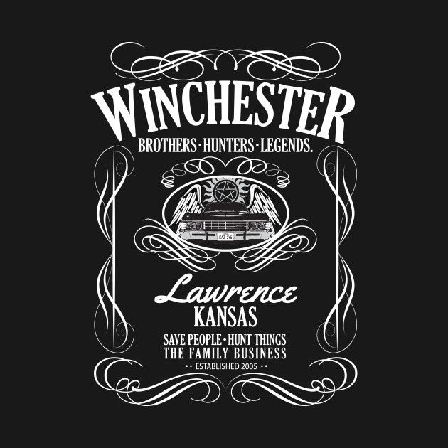 Winchester Brothers Hunter/'s Whiskey T-Shirt Saving People 1983 Mens Gift Top