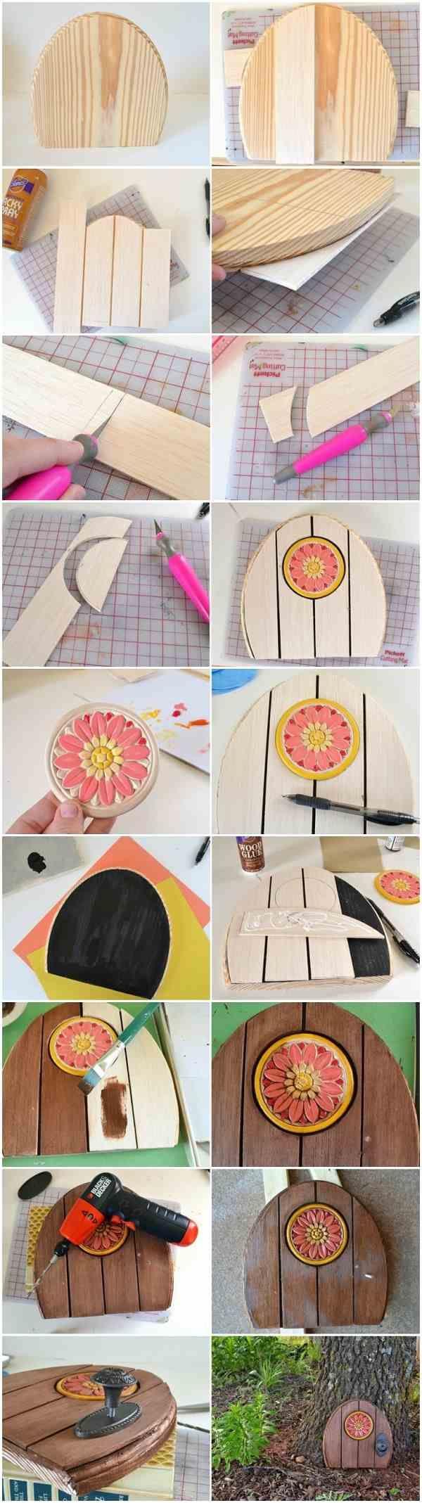 how to make a fairy door wooden fairy doors DIY fairy doors ideas tutorial