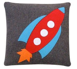 wool cushion cover - rocket