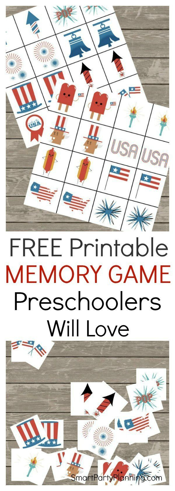 Printable Memory Game That Preschoolers Will Love Memory Games Labor Day Crafts Printables Free Kids [ 1680 x 600 Pixel ]