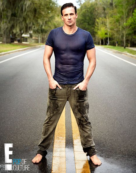 """Ryan Lochte dons a wet t-shirt to promote his new show, """"What Would Ryan Lochte Do"""""""