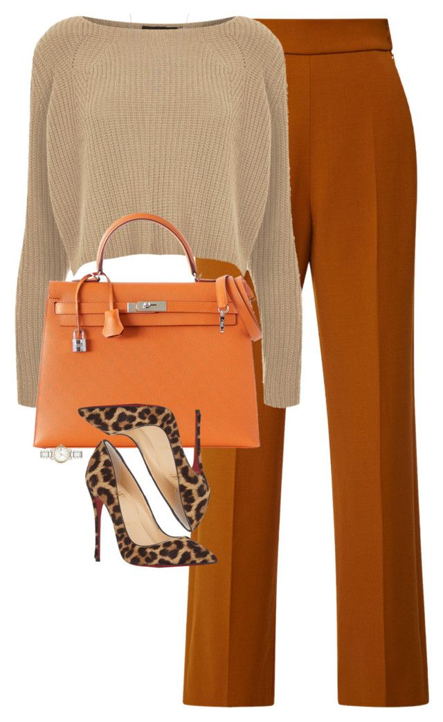 """Untitled #1146"" by lovetaytay ❤ liked on Polyvore featuring Delpozo, Topshop, Hermès, Christian Louboutin, Burberry and Athra Luxe"