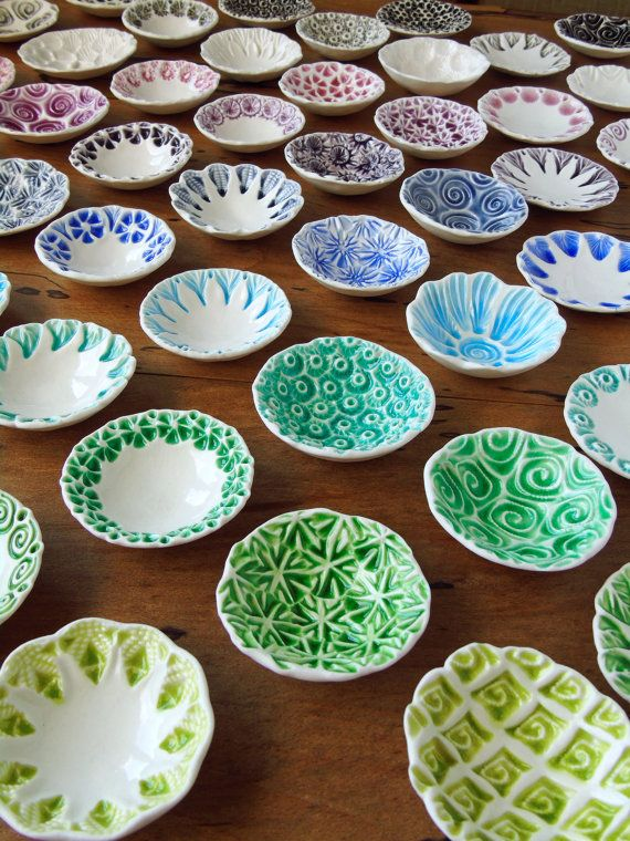 Porcelain dishes. See what's in stock or have one made :) ~ Blue green modern contemporary ceramic pottery dish bowl. inspired by nature