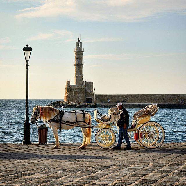 Old Venetian Port Old Town Chania, Crete, Greece ..   Photo By: @mono_chania